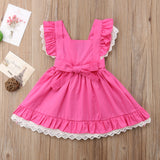 Bavarian Pink Lace Crochet Party Dress - Kids Petite - Baby & Kids Clothing