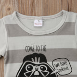 Come To The Dark Side Striped Romper - Rompers - baby-petite