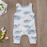 Calm Sea Whale Sleeveless Romper - Rompers - baby-petite