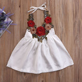Embroidered Rose Silk Dress - Dresses - baby-petite