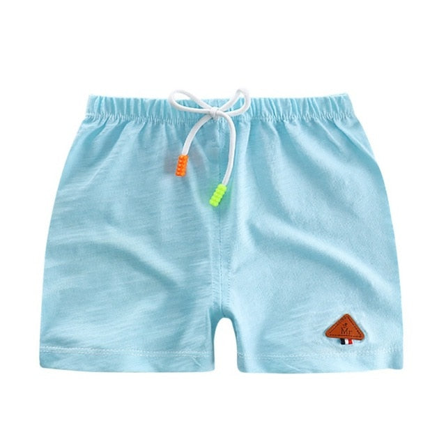 Summer Umbrella Drawstring Cotton Shorts