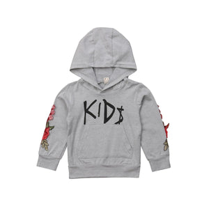 We Are The Kool Kids Floral Embroidered Hoodie