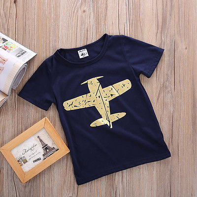 Flying Jet Cotton T-Shirt - Tops - baby-petite