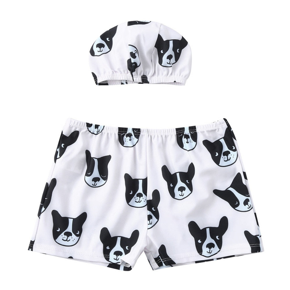 Pug Life Swimming Trunks With Matching Hat