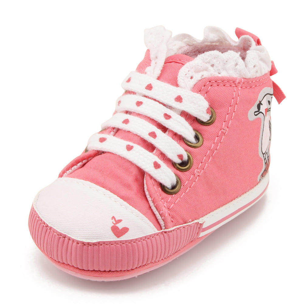 Hearts For You Lacey Strap On High Ankle Sneakers