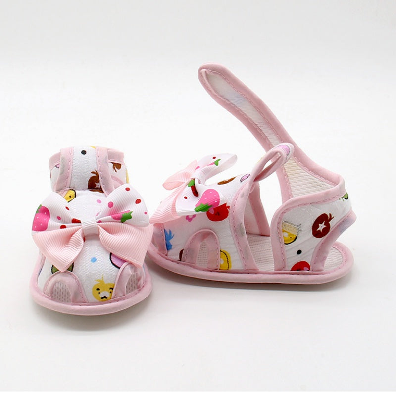 Cute Petite Cartoons Ribbon Strap On Shoes