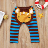 Oh My Deer Striped Leggings - Pants - baby-petite