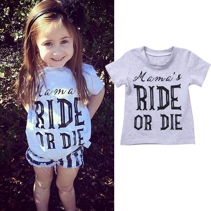 Mama's Ride Or Die Casual Cotton T-Shirt