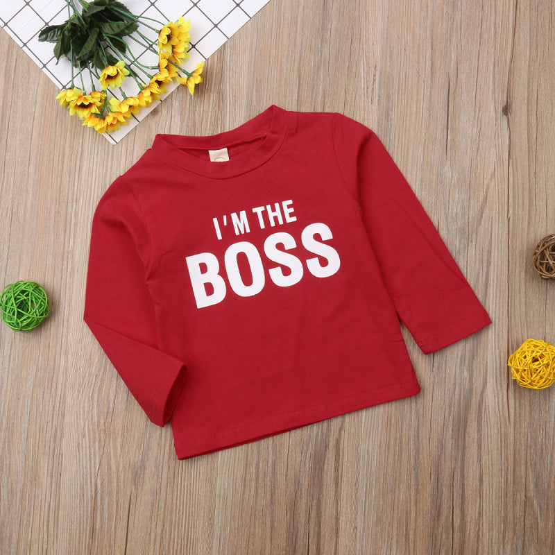 I'm The Boss Casual Long Sleeve T-Shirt
