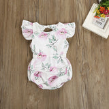 The White Spring Floral Romper - Rompers - baby-petite