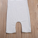 Basic Thin Striped Halter Neck Jumpsuit - Rompers - baby-petite