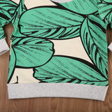 Tropical Leaves Warm Sweater