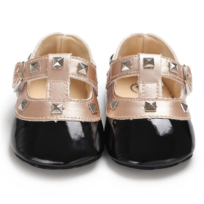 Cool Girl Studded Glossy Shoes