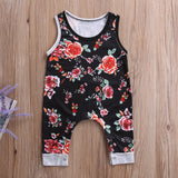 Black & Red Rosy Roses Jumpsuit - Rompers - baby-petite