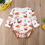 Happy Turkey Day Pom Pom Romper - Rompers - baby-petite