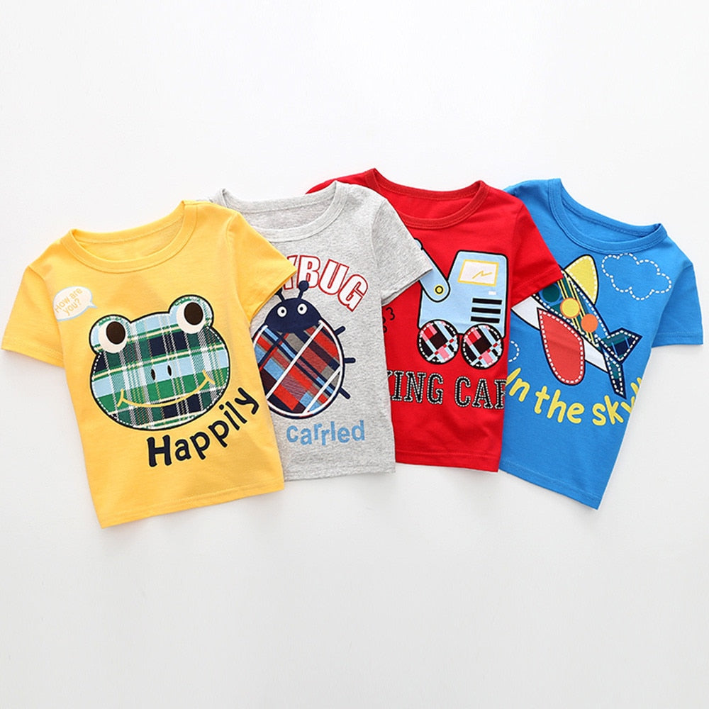 Airplane In The Sky Casual Cotton T-Shirt - Tops - baby-petite