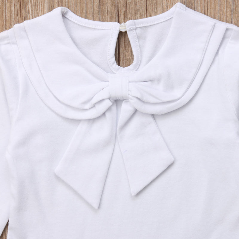 Sweet Sailor Bow Knot Long Sleeve Top