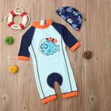 Puffer Fish Swimsuit With Matching Hat