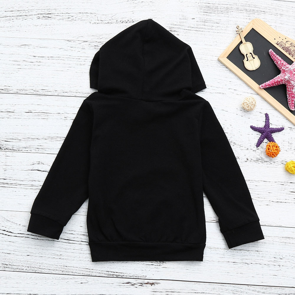 My Mama Statement Hooded Warm Black Pullover Hoodie