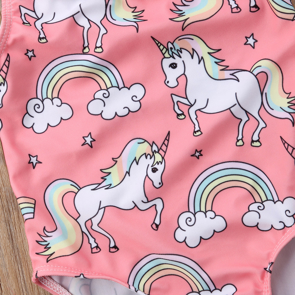 Peachy Rainbow Unicorn Swimsuit - Swimsuits - baby-petite