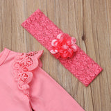 Pink Mermaid Lace Dress With Matching Headband - Dresses - baby-petite