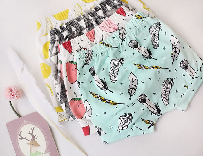 Fun Printed Pattern Summer Casual Shorts