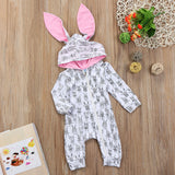 Bunny Fanatic Hooded Ear Romper Costume - Tops - baby-petite