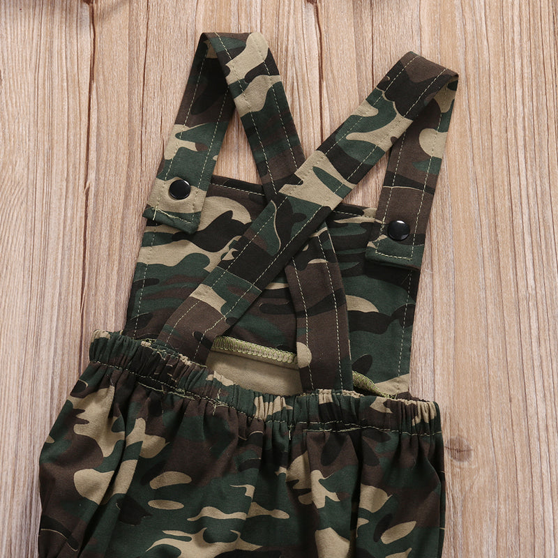 Urban Camouflage Cross Back Romper