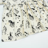 Beige Magical Unicorn Summer Dress - Dresses - baby-petite