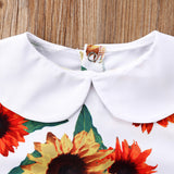 Fresh Sunflower Peter Pan Collar Romper