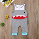 Sharktastic Sleeveless Romper - Tops - baby-petite