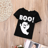 Halloween Boo Ghoul Casual Cotton T-Shirt