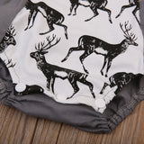 My Oh My Deer Button Romper