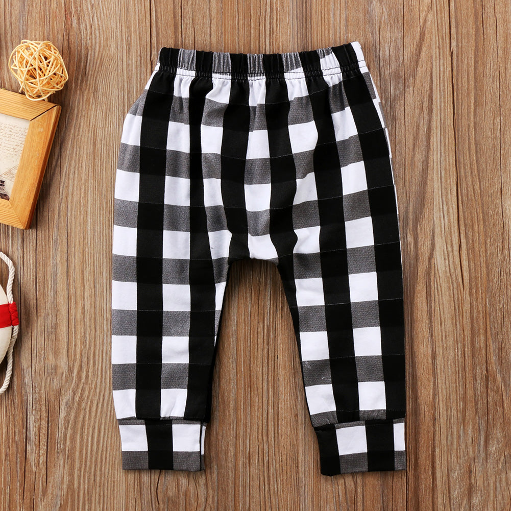 Street Style Plaid Gingham Long Pants