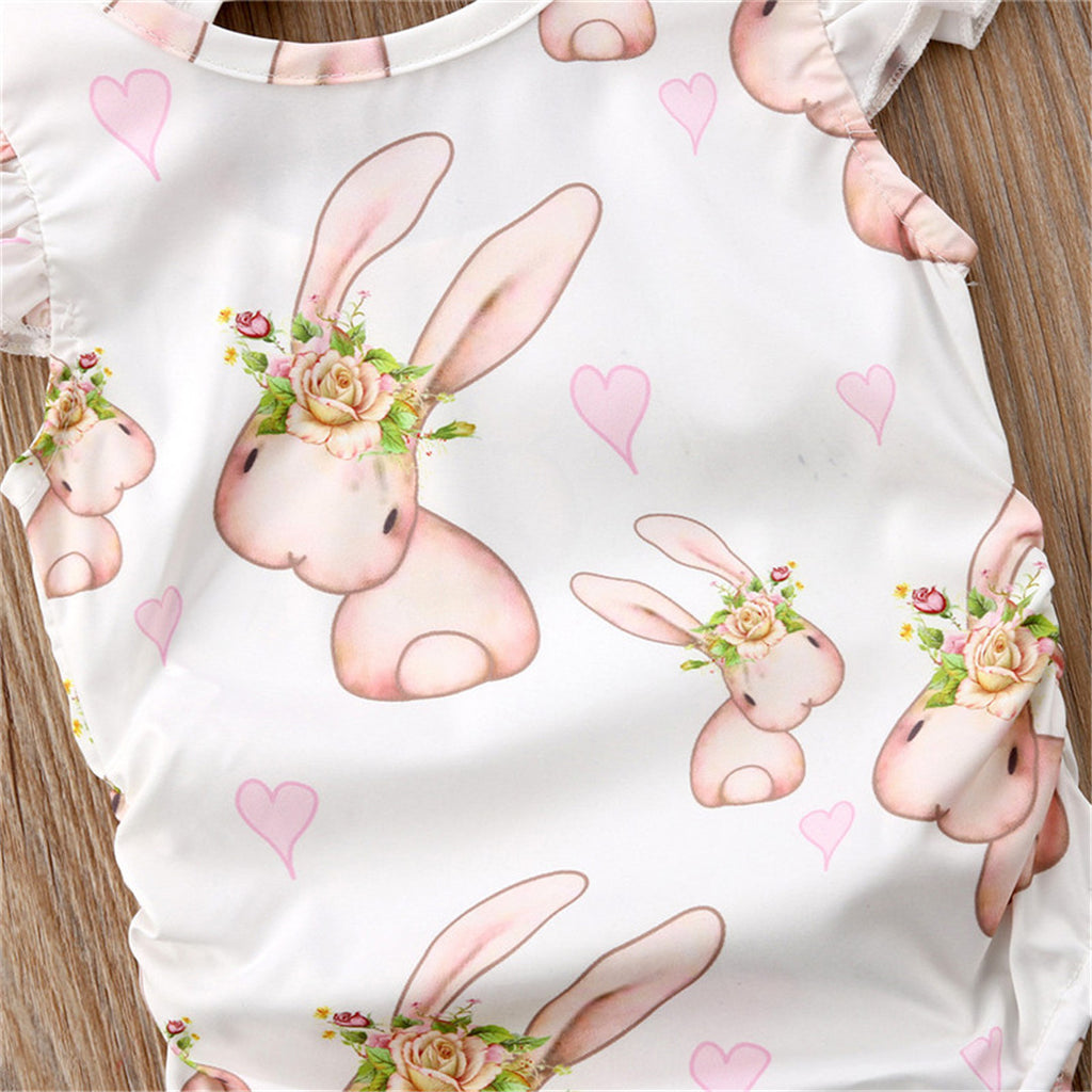Sweet Hop Hop Bunnies Cotton Romper