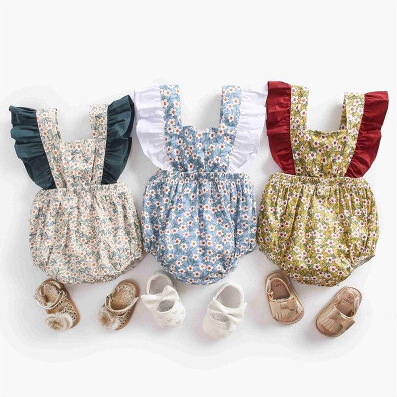 The Royal Floral Grand Sleeve Romper - Rompers - baby-petite