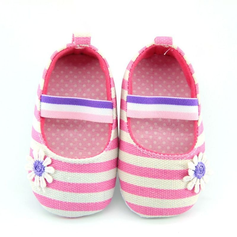 Little Daisy Striped Slip On Shoes