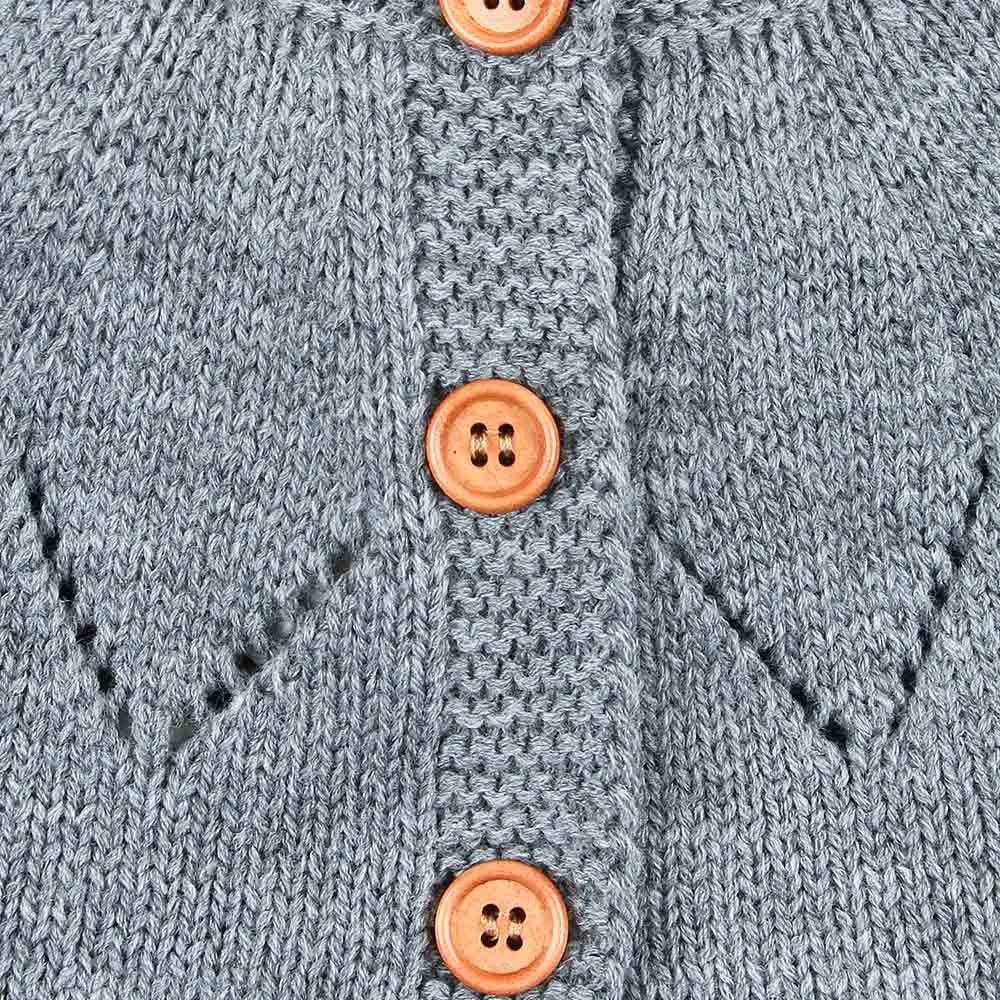 Candice Knitted Button Cardigan - Jackets & Outerwear - baby-petite