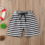 Sailor Striped Navy Beach Shorts