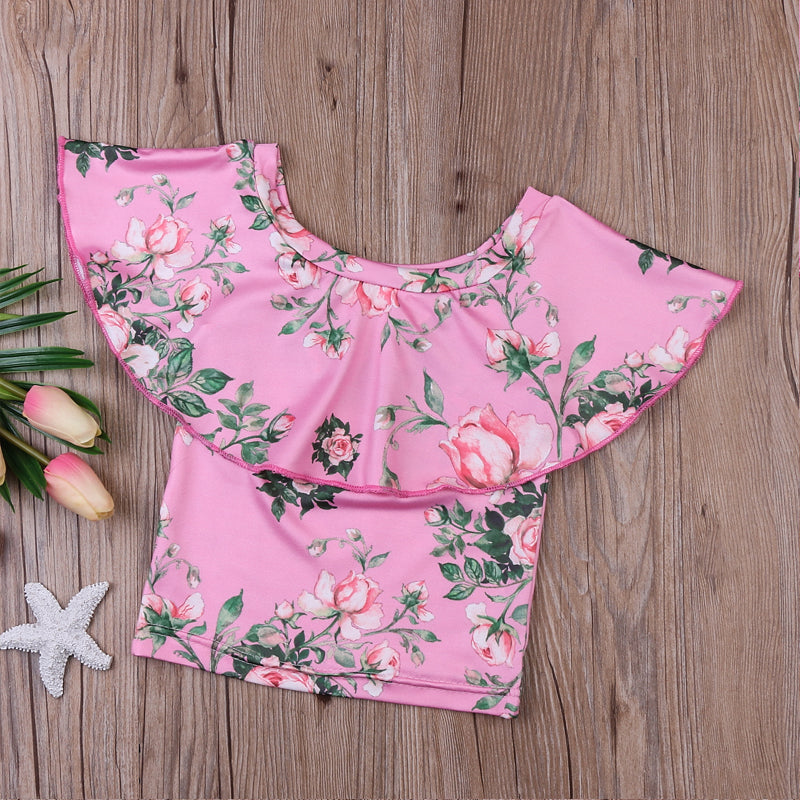 Rosy Pink Off Shoulder Summer Top