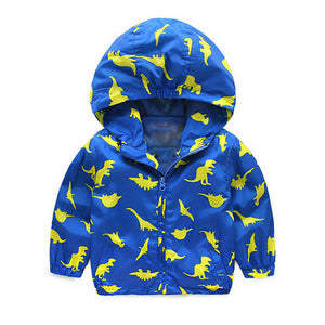 Dinosaur Party Windbreaker Jacket Hoodie