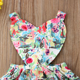 Sweetheart Floral Cutout Dress