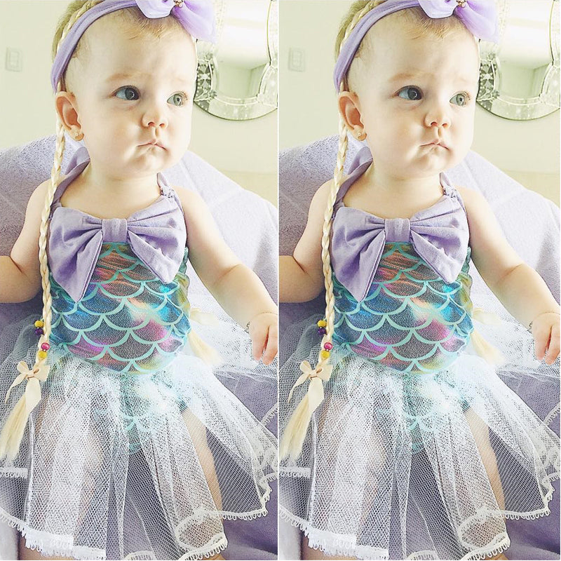 Magical Mermaid Tulle Swimsuit - Swimsuits - baby-petite