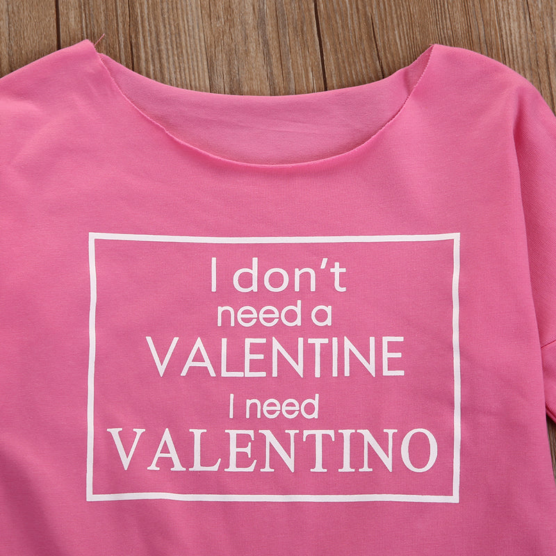 I Don't Need A Valentine I Need Valentino Romper - Rompers - baby-petite