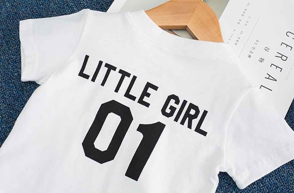 Little Girl Back Statement Casual Cotton T-Shirt