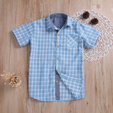 Side Pocket Casual Plaid Button Down Shirt