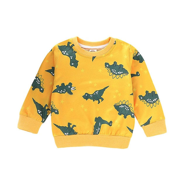 Yellow Dino Land Warm Sweater