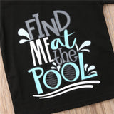 Find Me At The Pool Casual Cotton T-Shirt