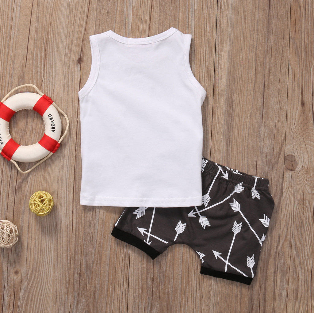 Good Vibes Sleeveless T-Shirt and Short Pants - Clothing Sets - baby-petite