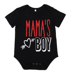 Mama's Boy Black Romper
